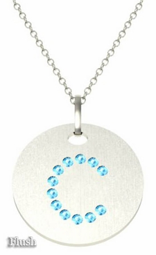Aquamarine letter pendant necklace aquamarine letter pendant necklace click to enlarge aloadofball Images