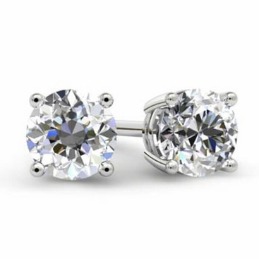 Forever One Moissanite Stud Earrings - click to enlarge
