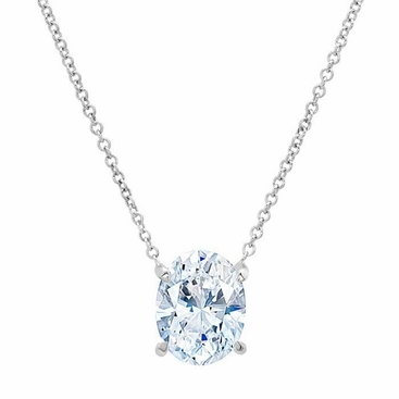necklace with chain com love knot amazon charles dew by dp pendant moissanite colvard