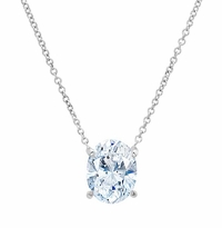 Forever One Oval Moissanite Necklace for Women