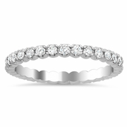 Four Prong Eternity Wedding Band