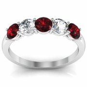 Garnet and Diamond Gem Stone Ring