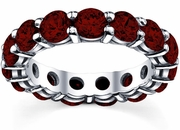 Garnet Anniversary Eternity Band