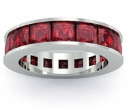 Garnet Birth Stone Eternity Band