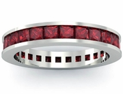 Garnet Eternity Anniversary Ring