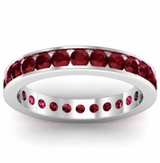 Garnet Eternity Ring in Channel Setting