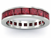 Garnet Gemstone Eternity Band