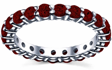 Garnet January Birth Stone Eternity Ring - click to enlarge