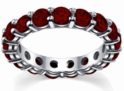 Garnet Wedding Eternity Ring