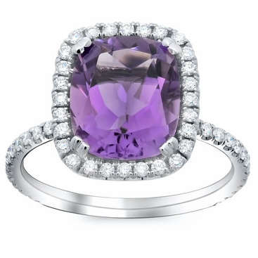 Gemstone and Diamond Cocktail Ring - click to enlarge