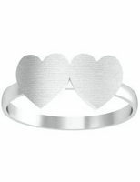Girls Signet Rings With Hearts