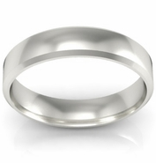 Gold Beveled Wedding Ring 4mm