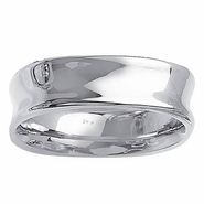 Gold Concave Ring for Men
