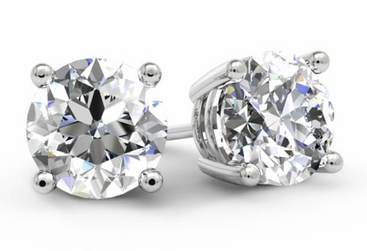 Gold Diamond Stud Earrings - click to enlarge