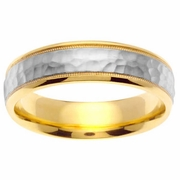 Gold Platinum Ring in 6mm Comfort Fit