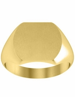 Gold Signet Rings For Women in Yellow