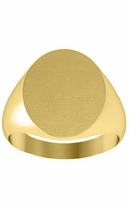 Gold Signet Rings Solid 14k Yellow
