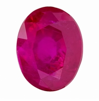 GRL Certified 2.41ct Oval Natural Burmese Red Ruby