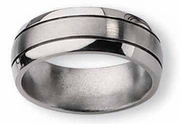 Grooved Aircraft Grade Titanium Band 8mm