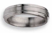 Grooved Titanium Ring 6mm