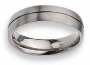 Grooved Titanium Ring  Matte Finish in 6mm Aircraft Grade Titanium