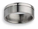 Grooved Titanium Wedding Ring 8mm