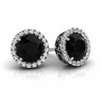Halo Studs with Black Diamonds