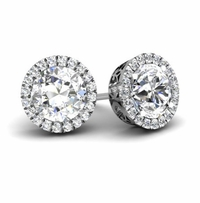 Halo Studs with Diamonds
