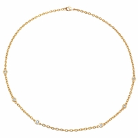 Handmade Diamond Necklace with Thick Cable