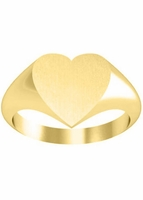 Heart Shaped Family Signet Ring