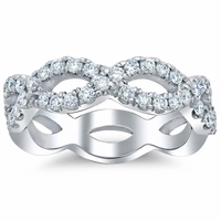 Infinity Diamond Wedding Band