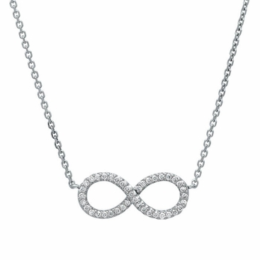 Infinity Pave Diamond Pendant - click to enlarge