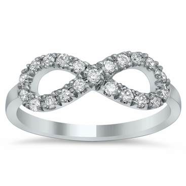 Infinity Pave Diamond Ring - click to enlarge
