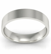 Ladies Palladium Flat Wedding Ring