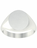Ladies Signet Ring Rounded Oval