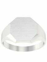 Ladies Signet Rings Chunky Octagon