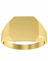 Ladies Solid Back Signet Ring Yellow Gold