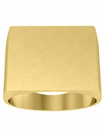 Large Mens Signet Ring 14kt Gold