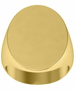 Large Oval Mens Signet Ring