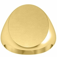 Large Oval Signet Ring for Men
