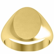 Large Plain Signet Ring