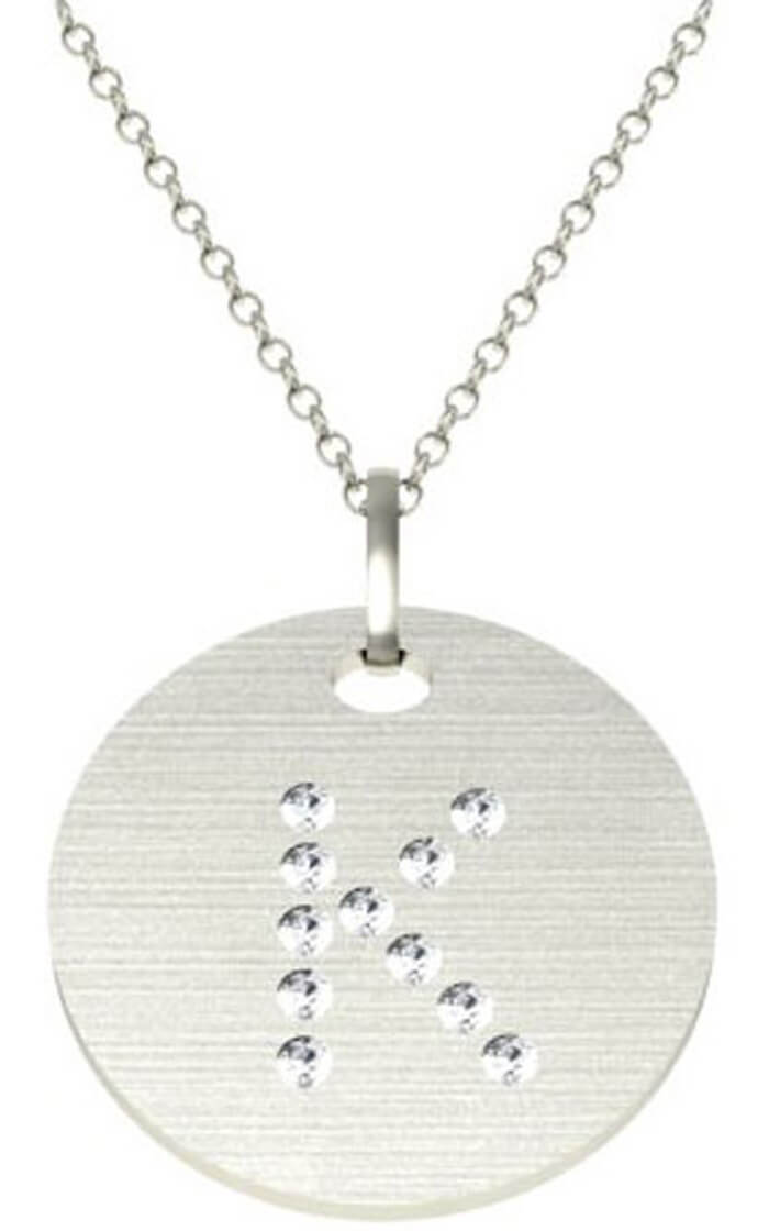 Diamond initial pendant diamond initial pendant click to enlarge aloadofball Image collections