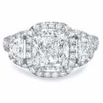 'Marguerite' Three Stone Diamond Engagement Ring