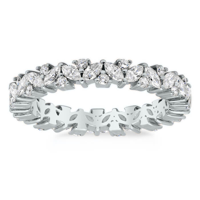 ring band ct eternity u diamond cut round anniversary product prong bands