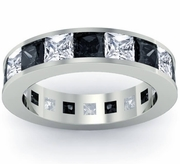 Men's Black and White Diamond Eternity Ring