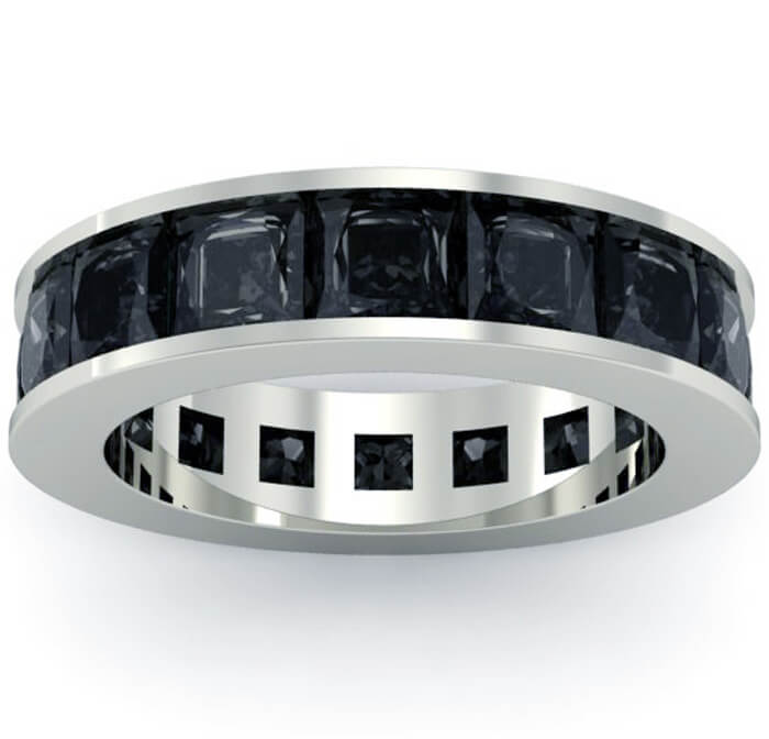 black bands diamond band eternity and white