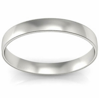 Men's Plain Wedding Ring with Milgrain (3 mm)
