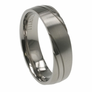 Mens Aircraft Grade Titanium Ring in 5mm
