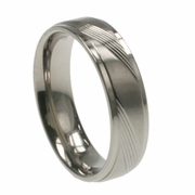 Mens Aircraft Grade Titanium Ring in 6mm