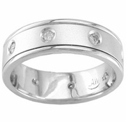 Mens Diamond Ring 0.16cttw